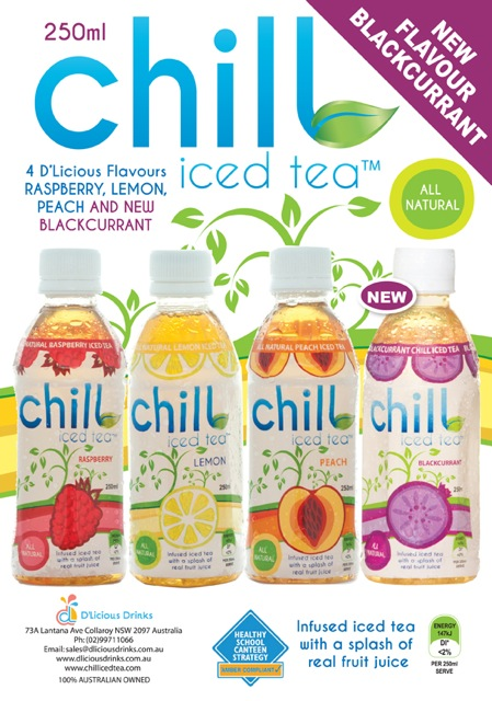 Blackcurrant Chill Iced Tea 250ml Email Flyer