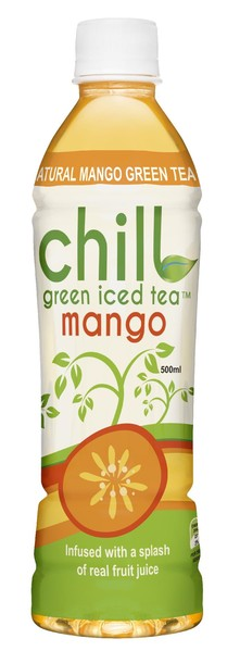 chill green iced tea mango